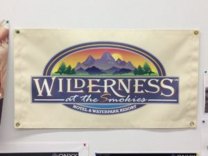 Wilderness at the Smokies resort banner
